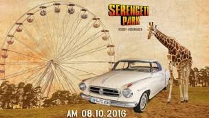 Mit dem Oldtimer auf Safari: Serengeti-Park sucht Teilnehmer für Corso am 8. Oktober 2016