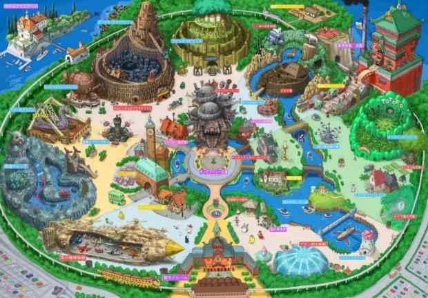 Studio Ghibli-Freizeitpark Entwurf von Takumi