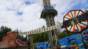 """Freizeit-Land Geiselwind präsentiert 2018 """"Vulcano"""": Neu-Thematisierung des Free-Fall-Towers"""