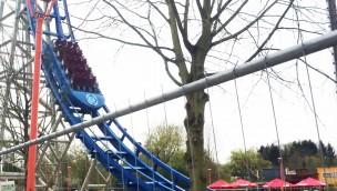 """Testfahrt von """"Pulsar"""" in Walibi Belgium"""
