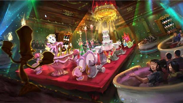 Tokyo Disneyland Die Schöne und das Biest-Attraktion