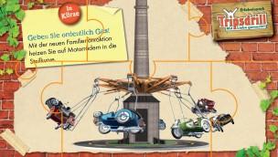 """""""Heißer Ofen""""-Baustelle im Blick: Neuer Motorrad-Rundflug im Erlebnispark Tripsdrill macht Testfahrten"""