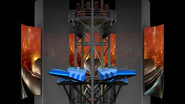 Ultra Tower Intamin Ansicht