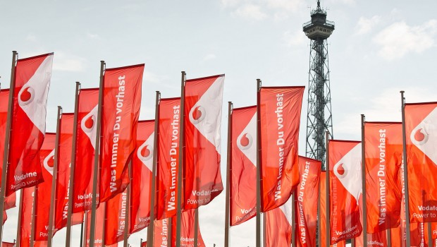 Vodafone-Flaggen