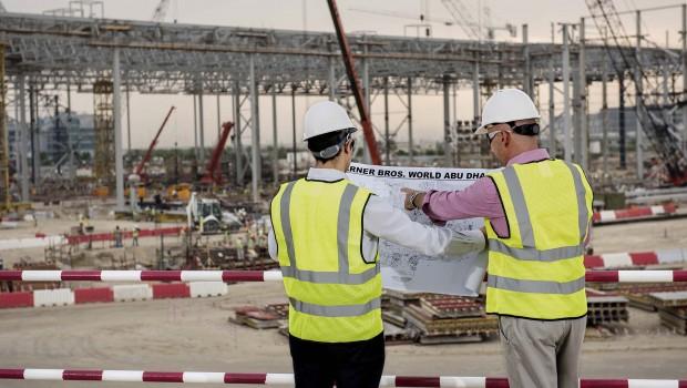Warner Bros.-Freizeitpark Abu Dhabi - Baustelle im April 2016 - Plan