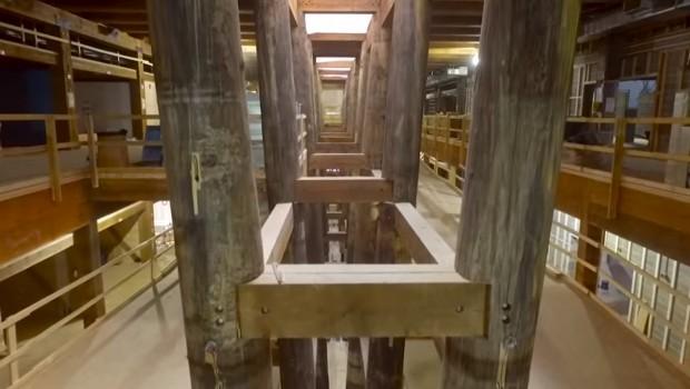Ark Encounter Arche Noah von Innen - Baustellenbild