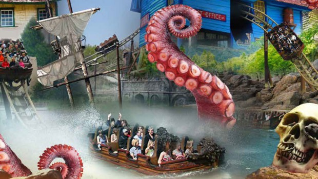 Chessington World of Adventures Achterbahn Artwork