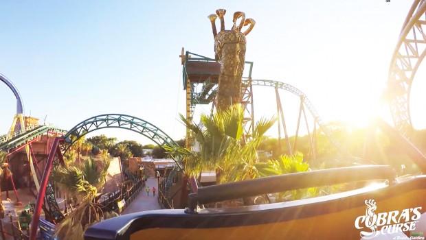 Cobra's Curse POV-OnRide - Busch Gardens Tampa Mack Spinning Coaster