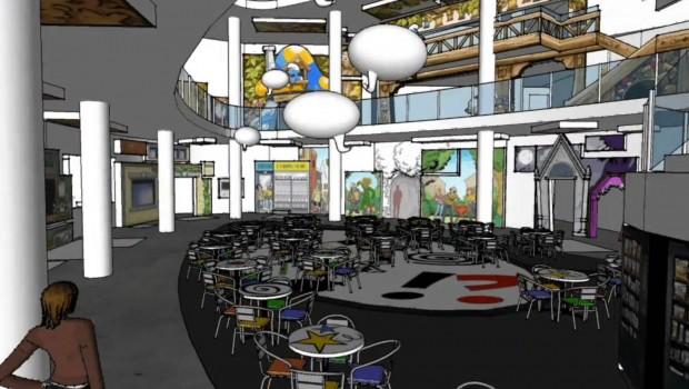 Comics Station Antwerp - Konzeptgrafik