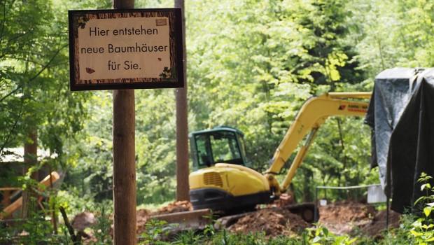 Erlebnispark Tripsdrill Natur-Resort - Baumhäuser-Baustelle