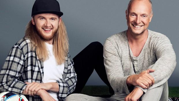 Frank Buschmann und Christoph Dommisch bei der SAT 1 EM 2016