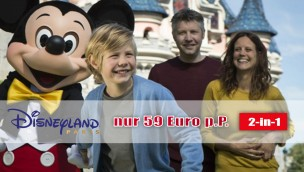 Disneyland Paris 2-in-1 Ticket-Angebot für beide Parks – nur 59 Euro pro Person!