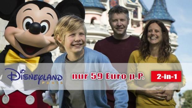 Günstige 2-in-1 Tickets für Disneyland Paris Frühjahr 2017