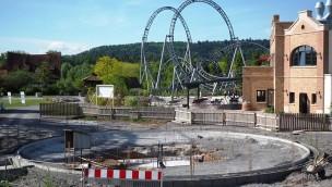 """""""Heißer Ofen""""-Baustelle in Tripsdrill (Ende Mai)"""