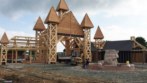 Parc du Bocasse - Eingang - Baustellenbild
