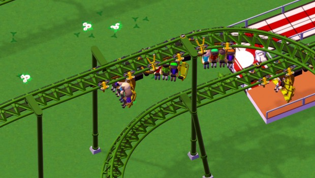 Inverted-Powered-Coaster bei Parkitect