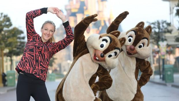 Paula Radcliffe und Chip & Chap - Disneyland Paris Halbmarathon 2016