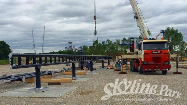 """Sky Dragster""-Baustelle im Skyline Park im Mai 2016 - 2"
