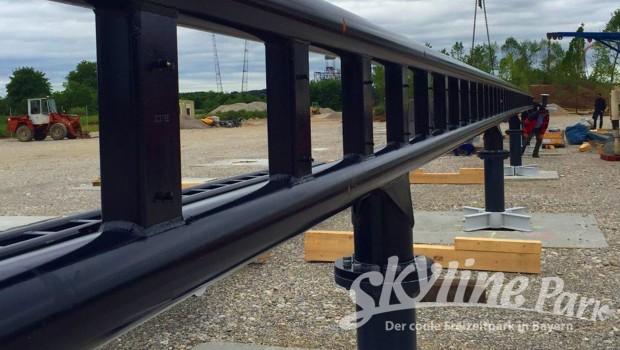 Sky Dragster Schienen Detailaufnahme im Skyline Park
