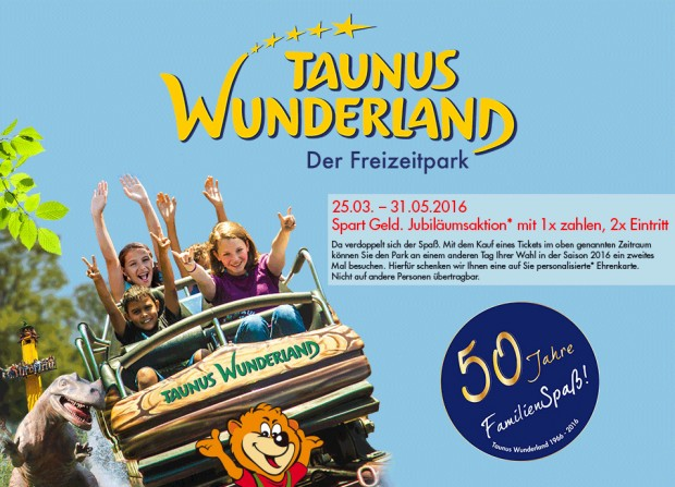 Taunus Wunderland 2-für-1 im Mai 2016