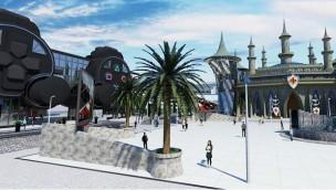 Parc du Jeu Video - Artwork zum Videospiele-Freizeitpark in Frankreich