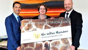 """""""Wir helfen München"""" schenkt bedürftigen Familien Jahreskarten für den Tierpark Hellabrunn 2016"""