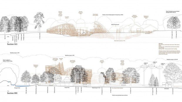 Alton Towers Holzachterbahn - Bauantrag 1