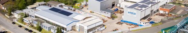 Das Firmengelände der FELD Rides GmbH