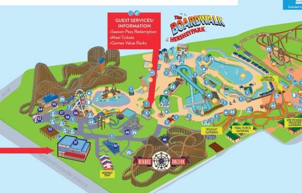 Hersheypark-Parkplan 2016