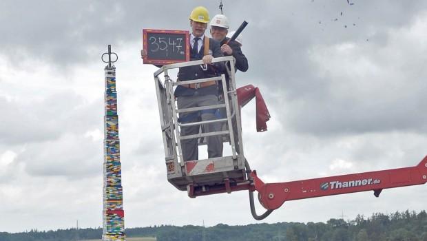 Höchster LEGO-Turm der Welt im LEGOLAND Deutschland - Spitze