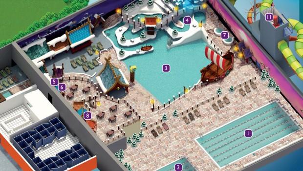 Holiday Park Wasserpark - Innenbereich – Konzeptgrafik