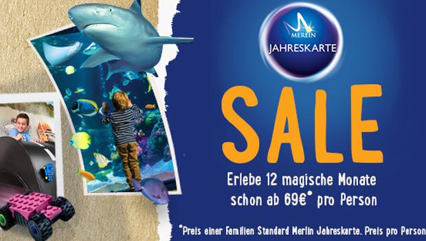 Merlin Jahreskarte Rabatt 2016 im Sale-Sommer