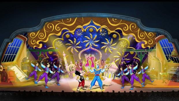 Micky und der Zauberer Show 2016 im Disneyland Paris - Artwork Genie