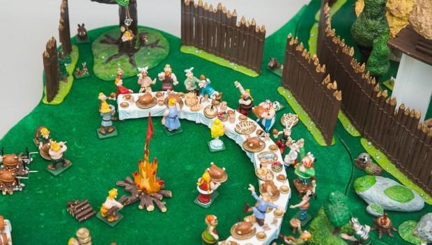 Parc Astérix Ausstellung Dorf