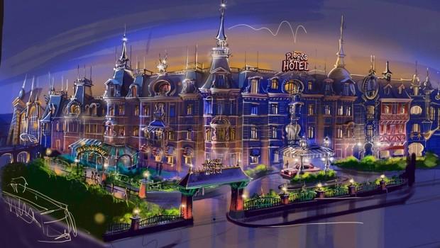 Plopsaland De Panne Hotel - Konzeptgrafik Front