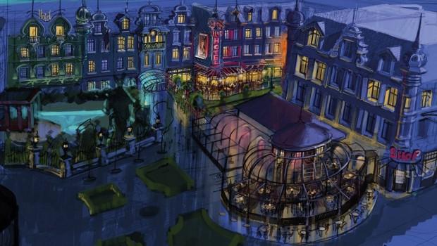 Plopsaland De Panne Hotel - Konzeptgrafik Parkblick