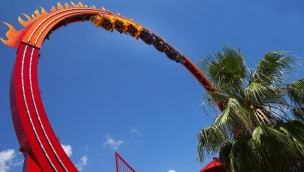 Six Flags Fiesta Texas Fireball Looping
