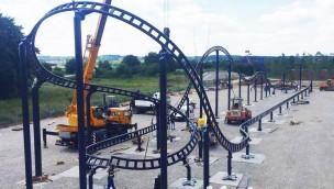 Sky Dragster Schienenschluss im Skyline Park