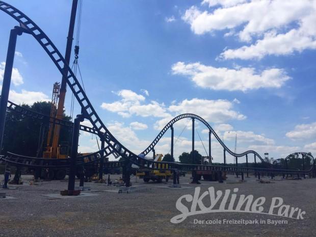 """Schienenschluss bei """"Sky Dragster"""" im Skyline Park"""