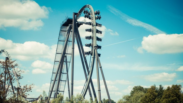 The Swarm First Drop im Thorpe Park