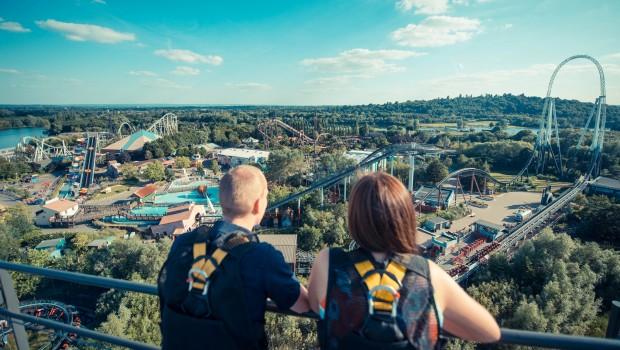 Thorpe Park Luftaufnahme - VIP-Blick