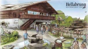 Tierpark Hellabrunn - Mühlendorf Zooschule - Konzeptgrafik