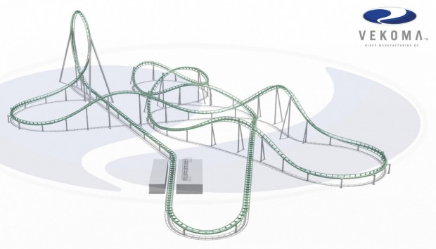 "Vekoma ""Space Warp Launch Coaster Layout"""