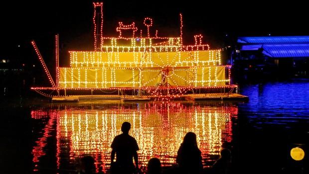 Zoo karlsruhe Lichterfest 2016 auf dem Wasser