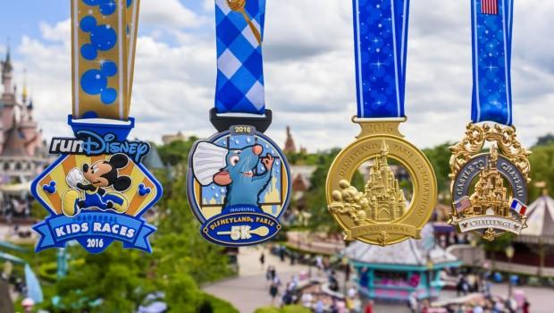 Disneyland Paris - Halbmarathon-Medaillen 2016