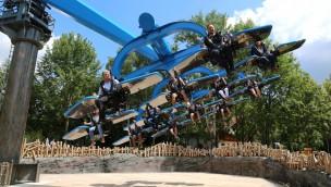 """""""Duell der Adler"""" im Bayern-Park offiziell eingeweiht: Neues Fahrgeschäft zum 25. Jubiläum"""