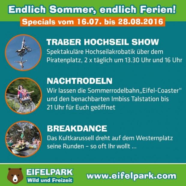 Eifelpark Gondorf im Sommer 2016