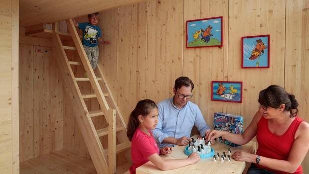 Ravensburger Spieleland Ferienhaus von innen