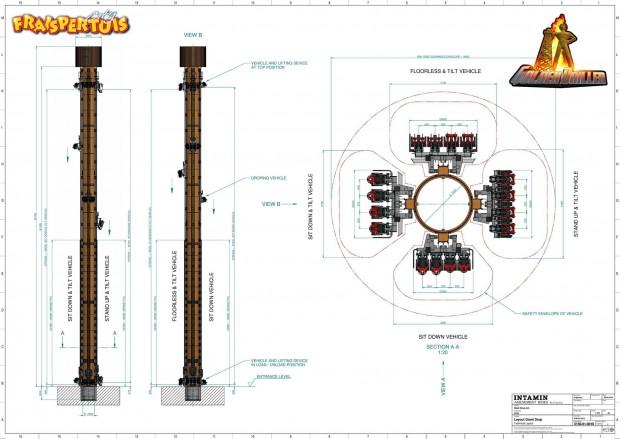 Fraispertuis City - Golden Driller - Konzeptzeichnung
