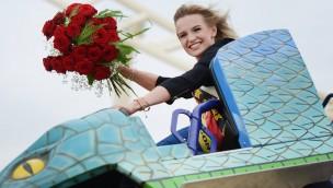 Miss Sachsen Josephin Frenzel meistert Achterbahn-Fotoshooting in BELANTIS